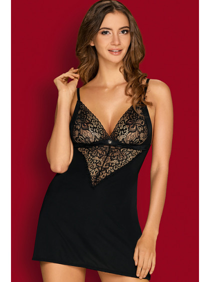 Коротенькая сексуальная сорочка с кружевом Cecilla