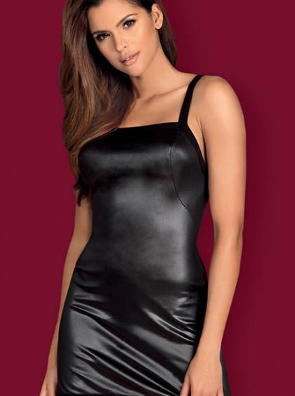 Эротическое платье из эко кожи Leatheri