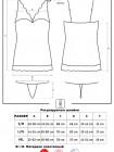 Сексуальная бирюзовая атласная сорочка с кружевом Miamor chemise