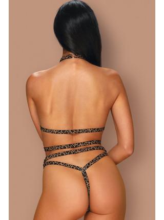 Пятнистый эротический комплект из полосок Tigrita set