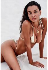 Золотой раздельный купальник мини-бикини Bella Vista