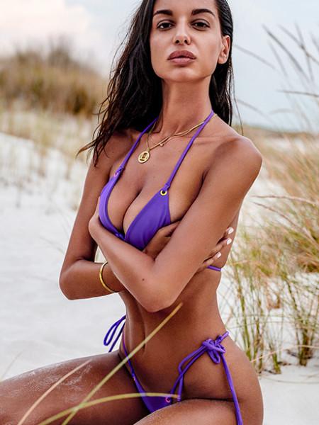 Фиолетовый раздельный купальник мини-бикини Beverelle