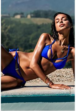 Пикантный синий раздельный купальник Costarica