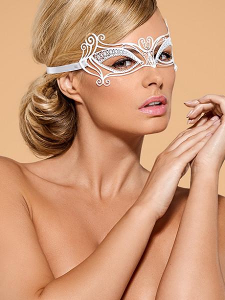 Белая металлическая маска для глаз A703