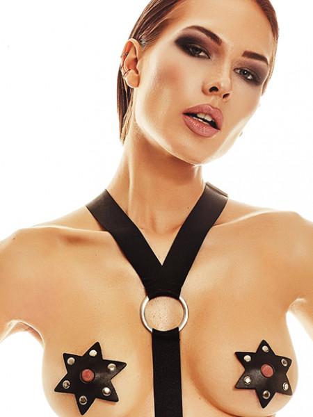 Наклейки на грудь в форме звездочек