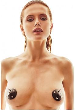 Наклейки на грудь с шипами