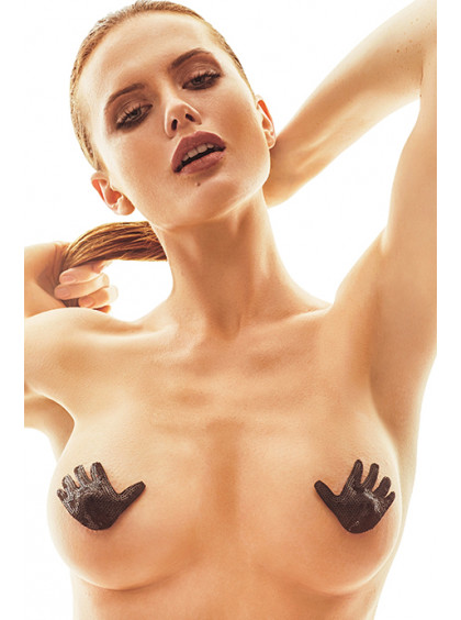 Наклейки на грудь в форме ладошек
