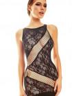 Эротическое кружевное платье с откровенными вставками