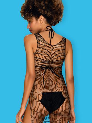 Пляжное платье-сетка D607
