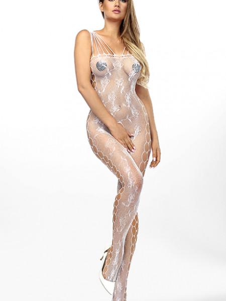 Сексуальный комбинезон-сетка с пикантным разрезом Jadis